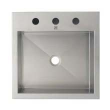Simply Stainless Rectangular Above-counter Stainless Steel Lavatory