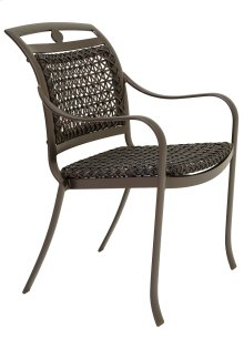 Palladian Woven Stacking Dining Chair