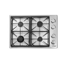 "Heritage 30"" Professional Gas Cooktop, Liquid Propane/High Altitude"
