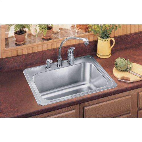 """Elkay Stainless Steel 25"""" x 22"""" x 10-1/4"""", Single Bowl Drop-in Laundry Sink"""