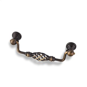 "5-15/16"" Overall Length Twisted Iron Cabinet Pull. Holes are 128 mm center-to-center."