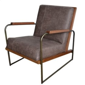 Damian PU Accent Chair, Devore Brown
