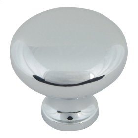 Round Knob 1 1/4 Inch - Polished Chrome