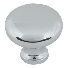 Round Knob 1 1/4 Inch - Polished Chrome