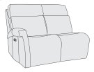 Clemens Left Arm Power Motion Loveseat Product Image