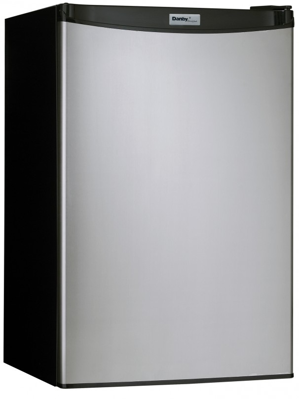 Dcr122bsldd Danby Danby Designer 4 3 Cu Ft Compact Refrigerator Black With Stainless Steel Look Metro Appliances More Kitchen Home Appliance Stores