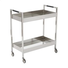 Wilshire Stainless Cart In Brushed Nickel Finish