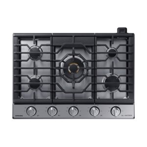 "Samsung Appliances30"" Chef Collection Gas Cooktop with 22K BTU Dual Power Burner in Stainless Steel"