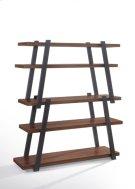 Modrest Tobias Modern Walnut & Grey Bookshelf Product Image