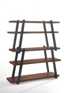 Modrest Tobias Modern Walnut & Grey Bookshelf Product Image