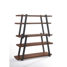 Modrest Tobias Modern Walnut & Grey Bookshelf