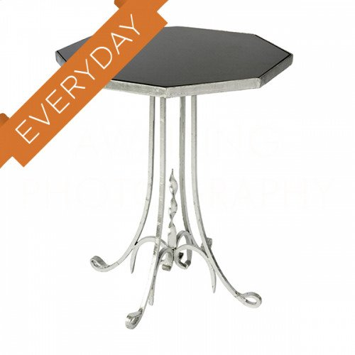 Lund Side Table in Silver