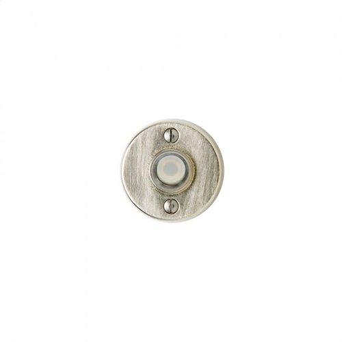 Round Metro Doorbell Button Silicon Bronze Light