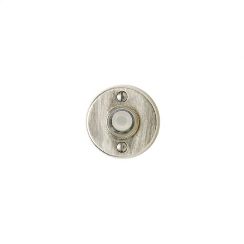 Round Metro Doorbell Button White Bronze Light