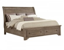 Whiskey Barrel - Sleigh Storage Bed (King)