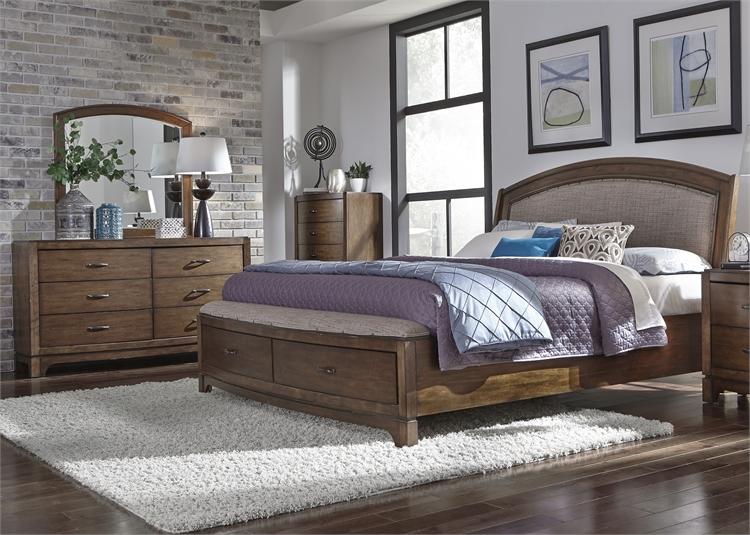 King Storage Bed, Dresser U0026 Mirror