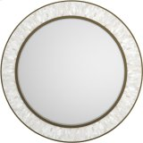 Aura Round Shell Accent Mirror Product Image