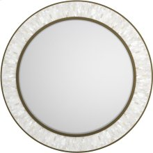 Aura Round Shell Accent Mirror