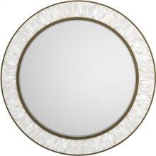 Aura Round Shell Accent Mirror
