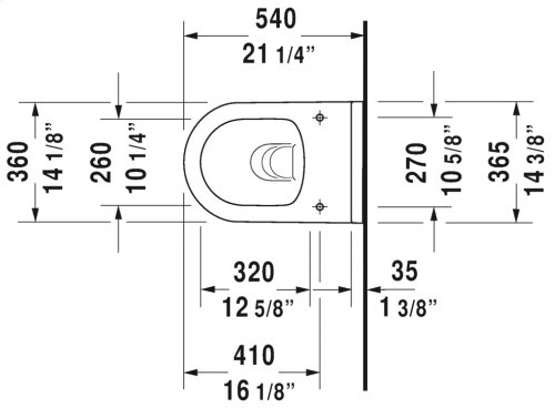 White Starck 3 Toilet Wall-mounted Duravit Rimless®