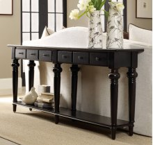 Six Drawer Thin Console