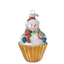 Snowman in Cupcake Ornament.