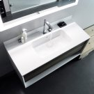 "series 1200 blustone™ vanity top, 4"" thick, White gloss 47 1/2"" x 20 1/4"" Product Image"