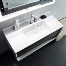 "series 1200 blustone™ vanity top, 1/2"" thick, White gloss 47 1/2"" x 20 1/4"""
