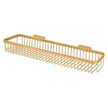 "Wire Basket 17-1/2""x 4-3/8"", Rectangular - PVD Polished Brass"
