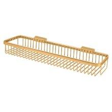 "Wire Basket 17-1/2""x 4-3/8"", Rectangular - PVD Polished Brass"