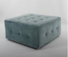 "36"" Castered Button Square Ottoman"