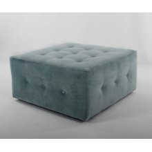 36 Castered Button Square Ottoman
