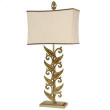 L312794  Sansa Cream Casted Iron Table Lamp with Softback Shade