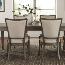 Vogue - Upholstered Side Chair - Gray Wash Finish