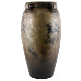 Antique Silver 4 Handled Tonola Jar