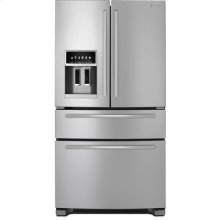 "Standard-Depth French Door Refrigerator with External Dispenser, 69""(h)"
