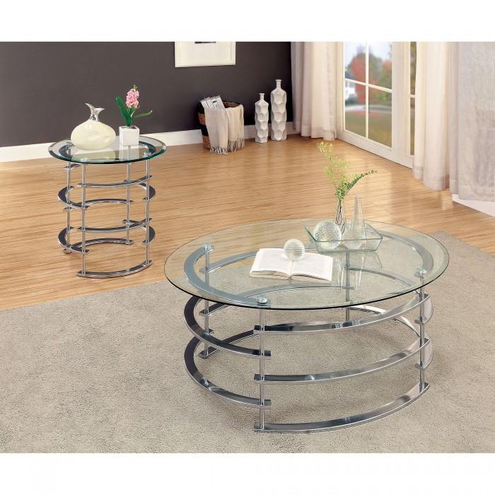 CM4359CRMC In By Furniture Of America In Farmington, NM   Clonmel Coffee  Table, Chrome