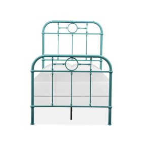 Complete Twin Metal Bed - Blue
