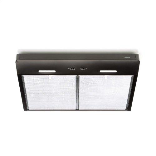 Corteo 30-Inch 250 CFM Black Range Hood with LED light