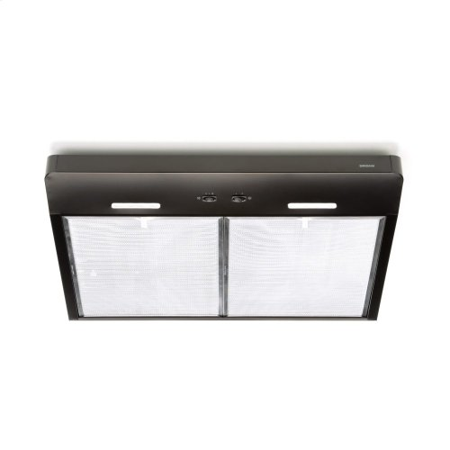 Corteo 30-Inch 250 CFM Black Range Hood with LED light