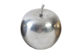Mini Metallic Apple Silver