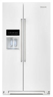24.8 Cu. Ft. Standard Depth Side-by-Side Refrigerator with Exterior Ice and Water - White