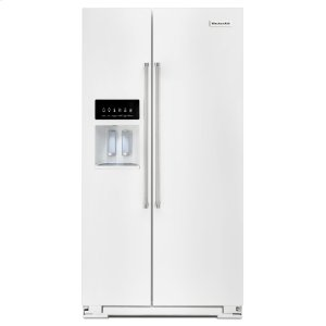 KitchenAid24.8 Cu. Ft. Standard Depth Side-by-Side Refrigerator with Exterior Ice and Water - White