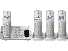 Link2Cell Bluetooth® Cordless Phone with Large Keypad- 4 Handsets - KX-TGE474S