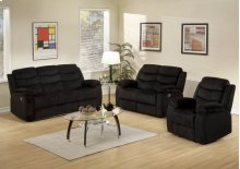 3pc. Black Reclining Set