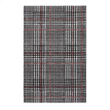 Kaja Abstract Plaid 8x10 Area Rug in Ivory, Black and Red