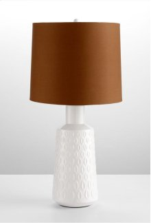 Abbie Table Lamp White Glaze and Brown