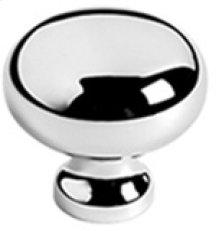 "Antique Brass Unlacquered Cupboard knob, 1"" diameter"