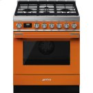 "Portofino Pro-Style Dual Fuel Range, Orange, 30"" x 25"" Product Image"