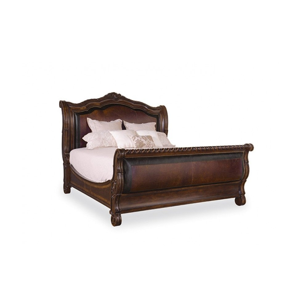 Valencia Queen Upholstered Sleigh Bed